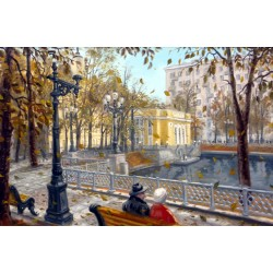 Lot 22, Sergey Volkov, Autumn on the Patriarch's Ponds