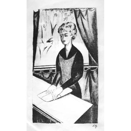 Lot 30, Natalia Goncharova, lithography nr.1