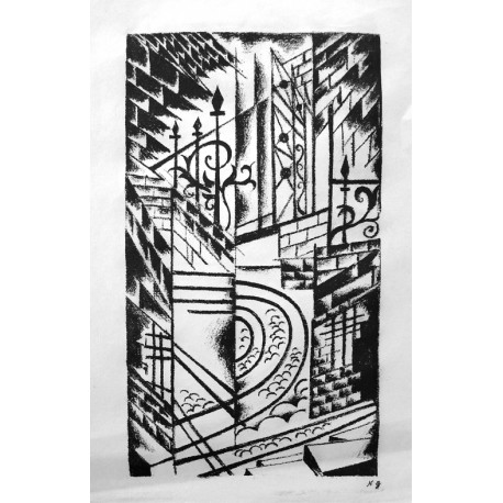 Lot 37, Natalia Goncharova, lithography nr.8