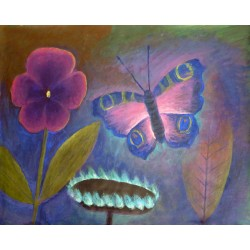 Lev Povzner, Butterfly and Flower