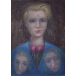 Lot 15, Lev Povzner, Portrait with flowres